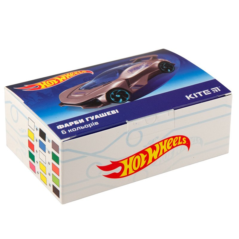 Гуаш Kite Hot Wheels, 6 цветов HW19-062