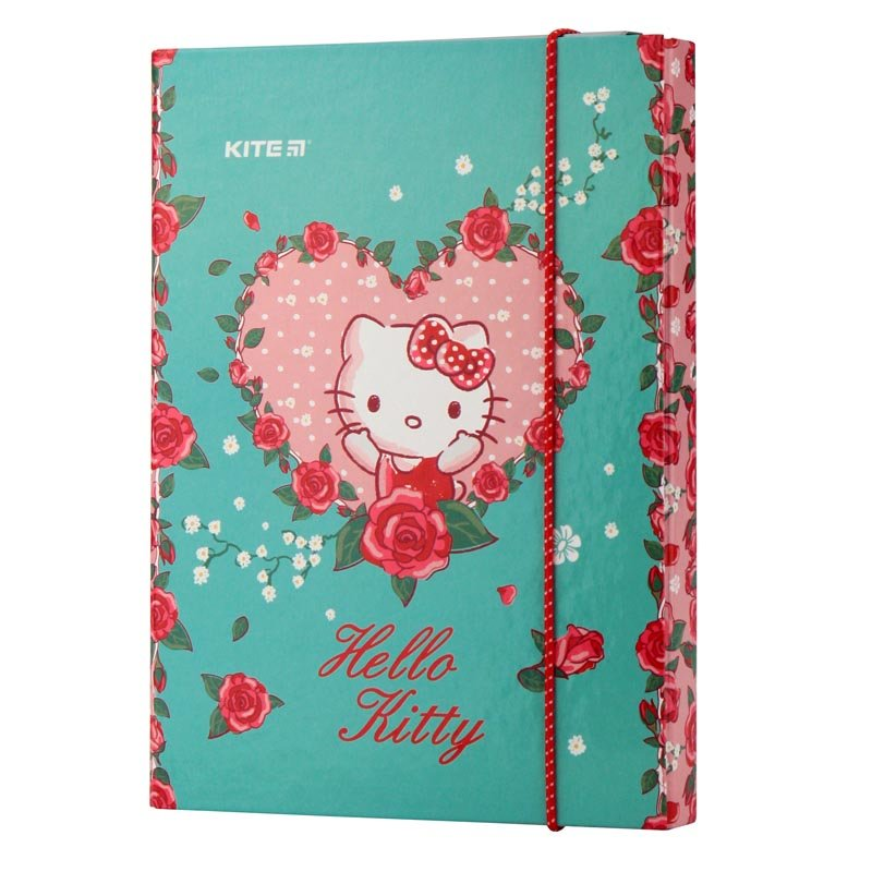 Папка для тетрадей на резинках Kite Hello Kitty HK19-210, картон